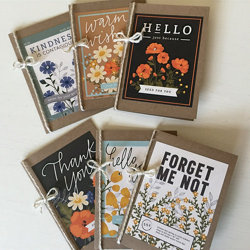 Floral Variety Greeting Cards - Set of 6