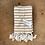 Thumbnail: Turkish Hand Towel Taupe Stripe Set/2