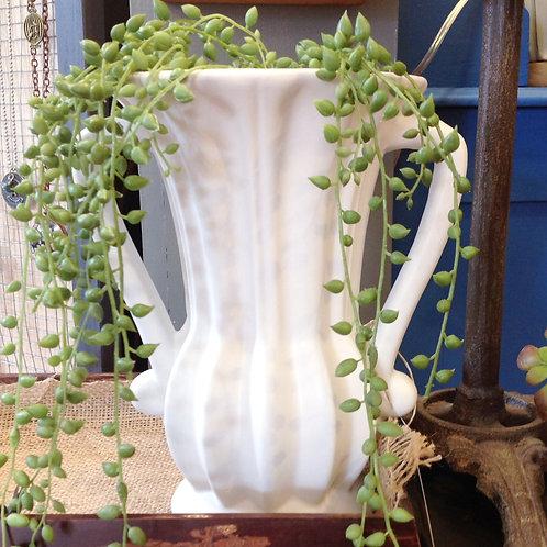 Matte White Parlor Vase