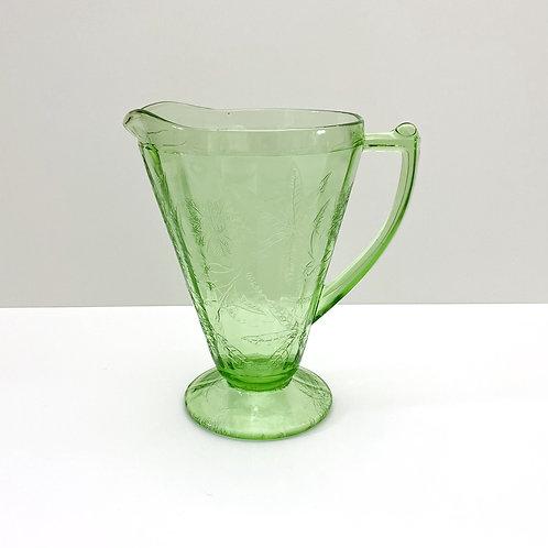 Vintage Depression Glass Pitcher
