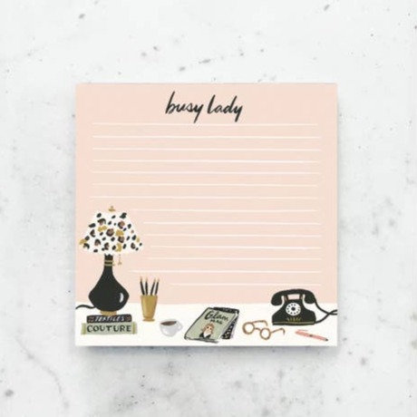 Busy Lady's Desk Notepad