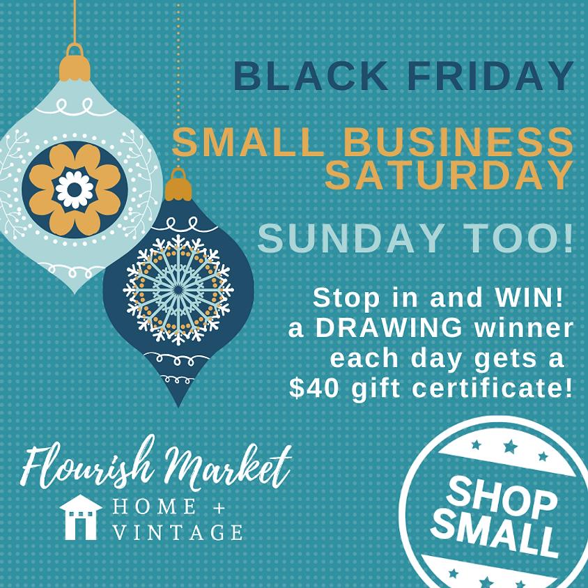 Flourish Market's Black Friday, Small Business Saturday, Sunday Too! Event