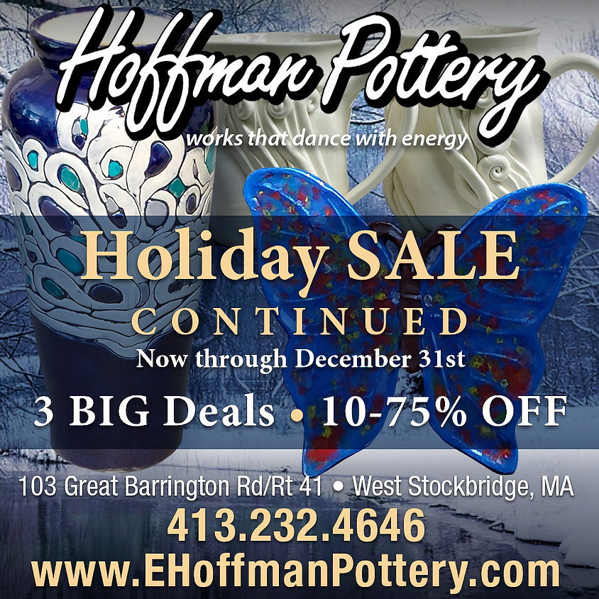 Hoffman Pottery Holiday Sale Continues