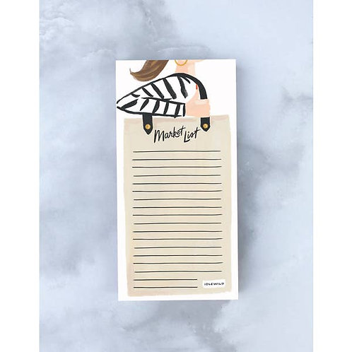 Market List Notepad with Shopper Gal