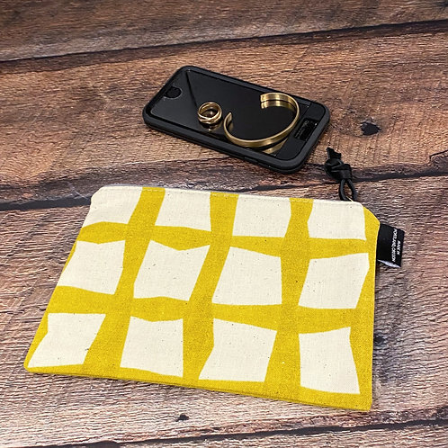 Golden Lattice Canvas Pouch Large