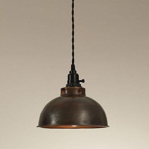 Aged Copper Dome Pendant Lamp