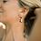 Thumbnail: Nora Tortoise Earrings in Coca Cream