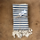 Thumbnail: Turkish Hand Towel Navy Stripe Set/2