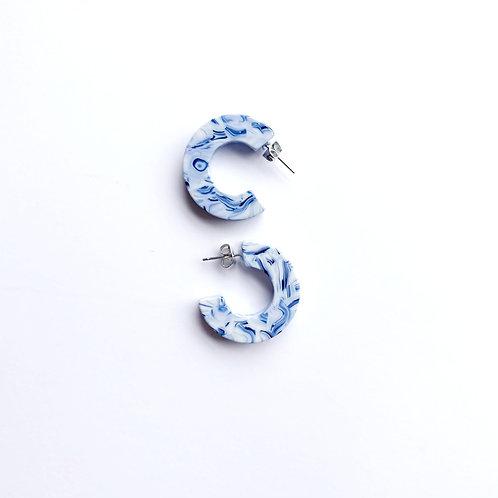 Ray Tortoise Earrings in Ocean