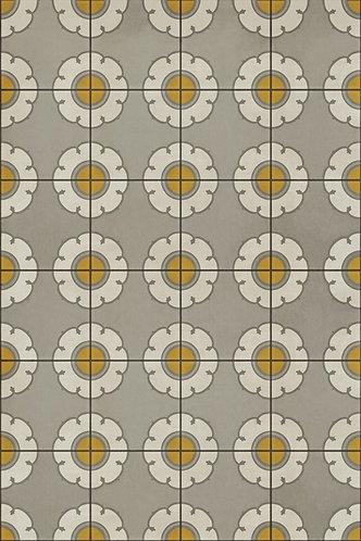 Vintage Vinyl Floorcloth - Pattern 78 Be Bop a Lula - 20x30