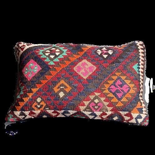 Blue Aztec Kilim Pillow 12x20