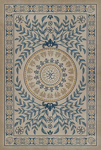 Vintage Vinyl Floorcloth - Pattern 40 Villa Deste - 38x56