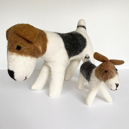 Felted Wool Dog - 2 sizes