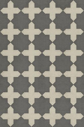 Vintage Vinyl Floorcloth - Pattern 23 Samaritan - 20x30