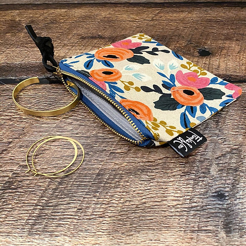 Floral Canvas Pouch Small