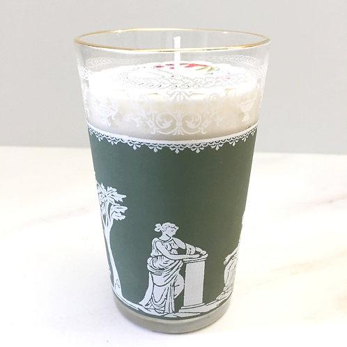 Lemon Verbena Soy Candle in Vintage Glass Vessel