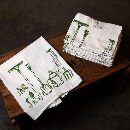 Garden Tools Tea Towel
