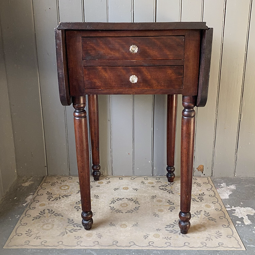 Antique Sheraton Dropleaf Work Table