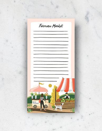 Farmers Market Notepad