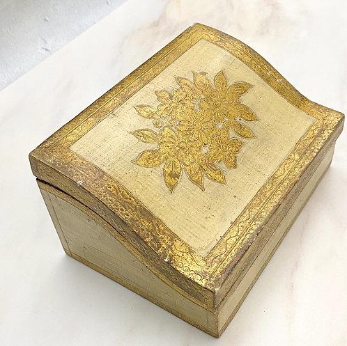 Vintage Florentine Lidded Box