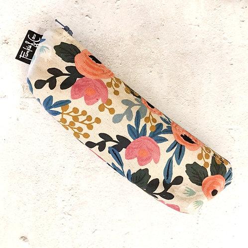 Floral Canvas Pencil Pouch