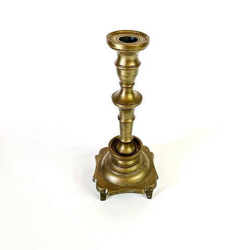 Vintage Footed Brass Candlestick