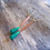 Thumbnail: Mini Jade + Bronze Dangle Earrings