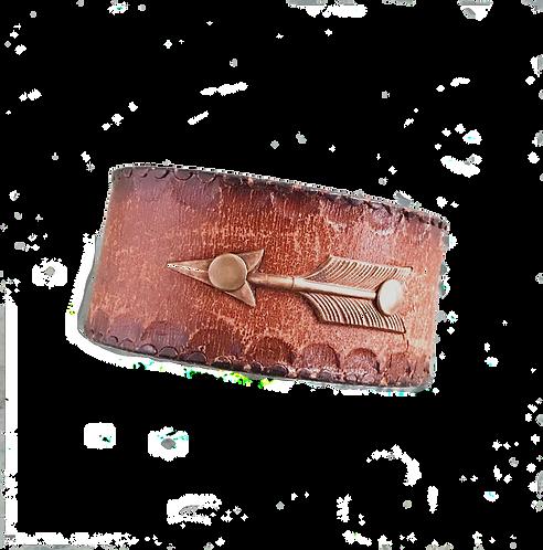 Leather Belt Bracelet with Arrow