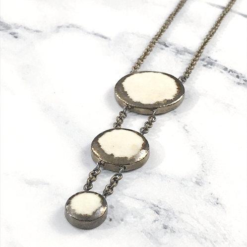 3 Piece Round Gem Necklace