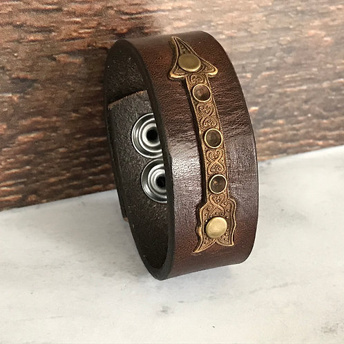 Leather Belt Bracelet with Arrow