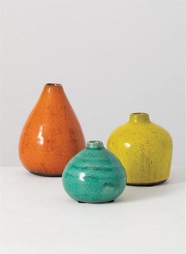 Colorful Crackle Ceramic Vases
