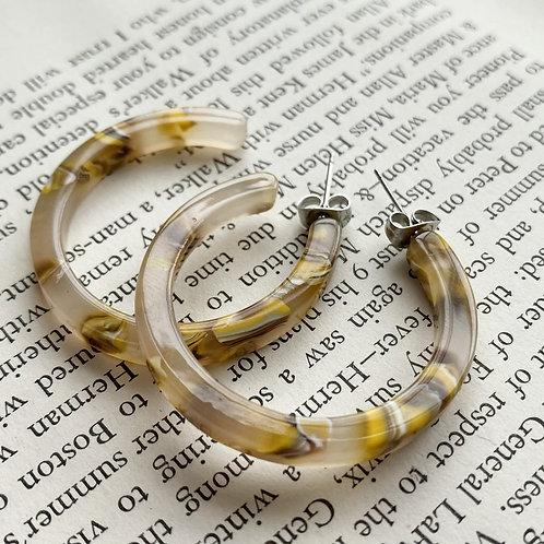 Nora Tortoise Earrings in Sunflower
