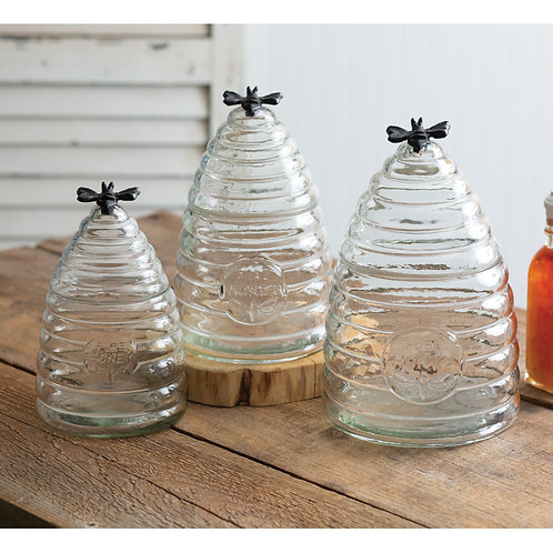 Honey Hive Glass Canister (3 sizes)