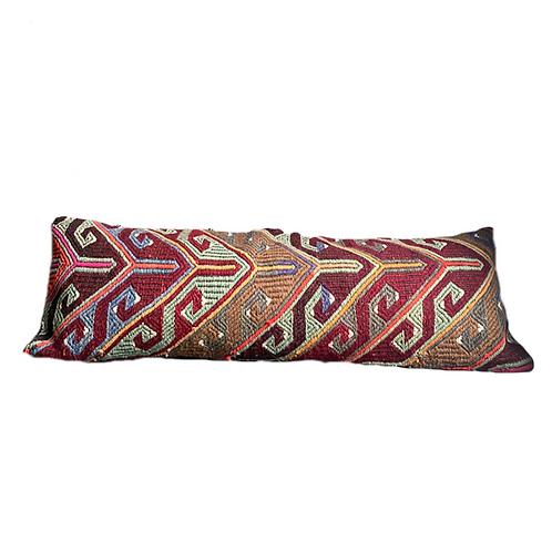Plum + Sage Aztec Kilim Pillow 12x36