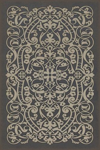 Vintage Vinyl Floorcloth - Pattern 77 Chopin - 20x30