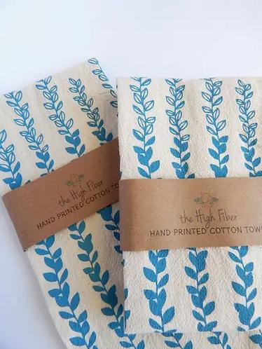 Blue Vines Tea Towel