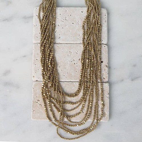 Multi-Strand Brass Necklace