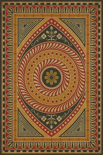 Vintage Vinyl Floorcloth - Pattern 75 Control the Eye - 20x30