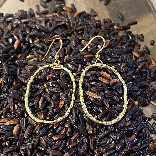Freehand Oval Earrings