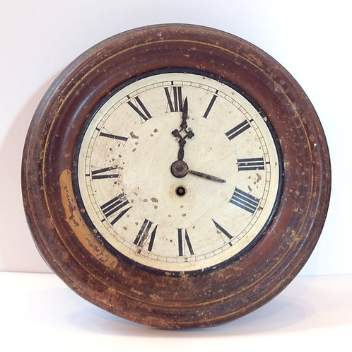 Vintage Round Antique Wall Clock with Roman Numerals