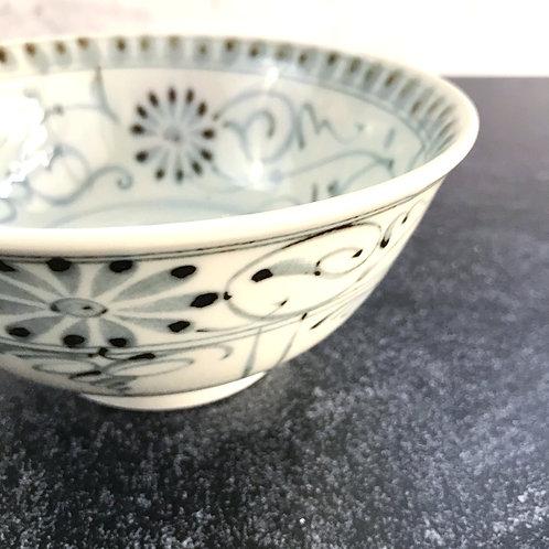 Vintage Shades of Grey Bowl