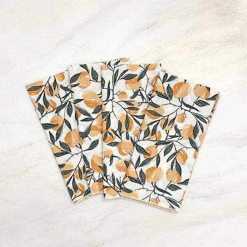 Apricot Cotton Napkin Set/4