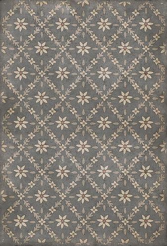 Vintage Vinyl Floorcloth - Williamsburg Naturalist Mitchell - 38x56