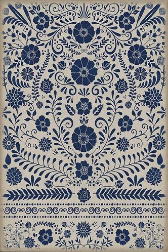 Vintage Vinyl Floorcloth - Pattern 36 Liddell - 20x30