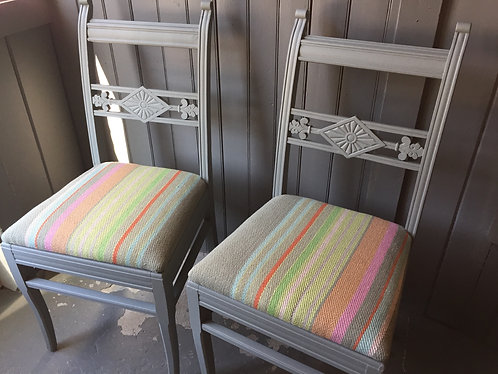 Antique Painted Spanish Chair Pair