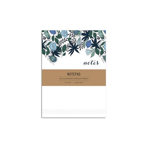 Blue Flowers Notepad