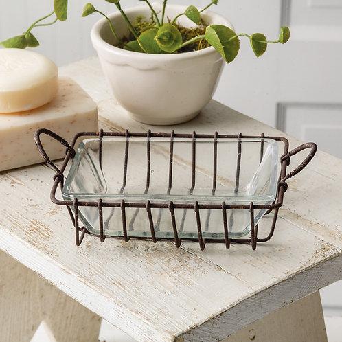 Wire + Glass Soap Dish