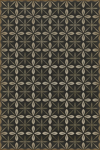 Vintage Vinyl Floorcloth - Pattern 81 - The Transport Cafe - 20x30