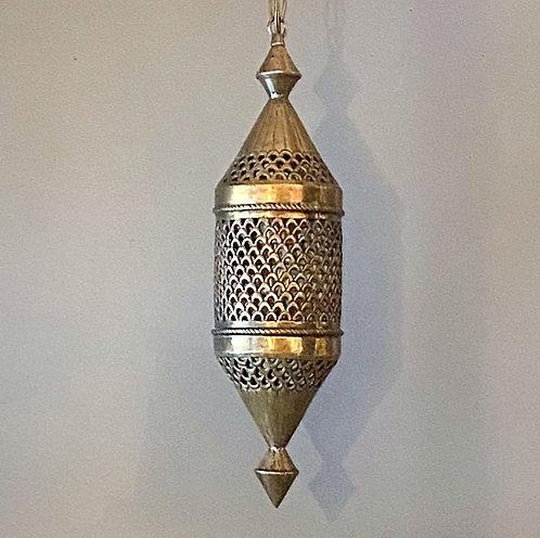 Vintage Brass Moroccan Pendant