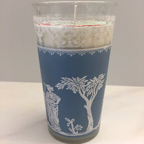 Lavender Driftwood Soy Candle in Vintage Glass